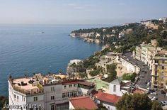 View of the Naples coastline from Mergellina to Posillipo