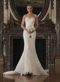 Abito da sposa sirena 2016 con decorazioni stella Romona Keveza