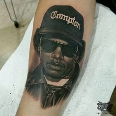 Starting this Friday off with some killer work from Pro Team artist @rickylopeztattoo, of one of the best, Eazy E. #worldfamousink #worldfamousforever #tattoo #tattoos #besttattoos #amazingink #tattooink #blackandgrey #bng #blackandgreytattoo #bngsociety #rap #rapper #rapmusic #music #musictattoo #eazy #e #eazye #eazyetattoo #compton #comptontattoo #straightouttacompton