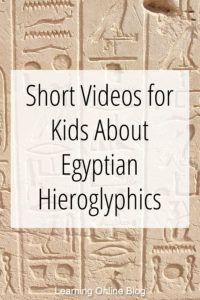 Short Videos for Kids About Egyptian Hieroglyphics Your kids can learn about ancient Egyptian hieroglyphics from these quick videos. Ancient Egypt Lessons, Ancient Egypt Activities, Ancient Egypt For Kids, History Activities, Ancient Egyptian Art, Teaching History, Ancient History, History Education, Ancient Egypt Crafts
