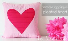 V and Co: how to:reverse applique pleated heart