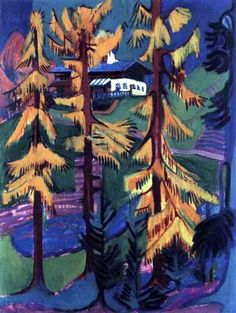 """Ernst Ludwig Kirchner """"Das Wildbodenhaus im Herbst"""", 1925 (Germany, Expressionism, 20th cent.)"""