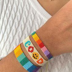 Loom Bracelet Patterns, Bead Loom Bracelets, Tear, Loom Beading, Brooch, Shakira, Crochet, Jewelry, Block Prints