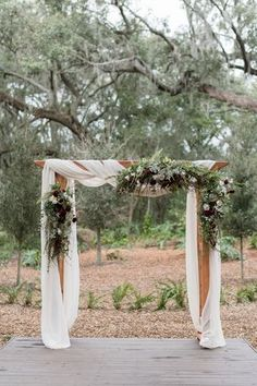 Brown Copper and Rifle Green Color Combos { Subtle Sage Undertones } wedding red 8 Stunning greenery wedding arches and Wedding Altar decorations Wedding Arch Greenery, Wedding Altar Decorations, Wedding Pergola, Wedding Arch Rustic, Wedding Ceremony Arch, Wedding Centerpieces, Outdoor Wedding Arches, Outdoor Weddings, Outdoor Ceremony