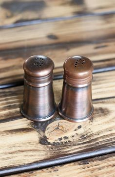 Rustic Salt & Pepper Shakers from Sur la Table.