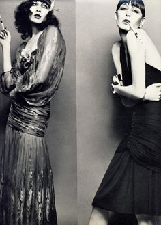 Anjelica Huston was in her 20's when she modeled for these photos by  the iconic Richard Avedon.