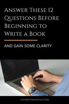 Answer These 12 Questions Before Beginning to Write a Book and Gain Some Clarity + a FREE Downlad Creative Writing Tips, Book Writing Tips, Writing Quotes, Fiction Writing, Writing Process, Writing Resources, Writing Help, Writing Skills, Writing A Novel