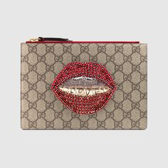 Embroidered GG Supreme small pouch $ 750