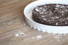 Chocolate and butter combine to create the definition of decadence in this almost flourless chocolate cake. Recipe available at msmarket.coop. #freshrecipes #chocolate #decadence
