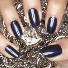 deep blue #nail #art #manicure