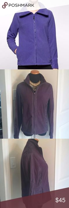 Calvin Klein Women's Performance Zip Up Fleece Calvin Klein Women's Performance Zip Up Fleece in bright royal purple. Absolutely beautiful plum colored fleece jacket from calvin klein. Super comfortable and warm. Please feel free to make an offer! Calvin Klein Jackets & Coats