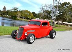 1933 Ford Other STREET ROD 1933 Ford 3 WINDOW STREET ROD 28,539 Miles RED Coupe 355 Automatic