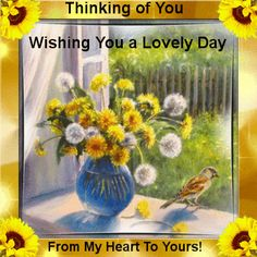 Wish anyone a lovely day with this thinking of you ecard. Free online A Wish For You ecards on Everyday Cards Morning Hugs, Morning Blessings, Good Morning Good Night, Morning Wish, Healing Wish, Miss You Images, Thinking Of You Today, Good Day Quotes, Have A Happy Day