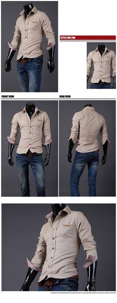 Luxury Men Slim Fit Dress Shirt - Yup