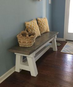 30 diy modern farmhouse bench decor ideas (30)