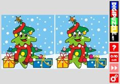Find the Differences: Christmas Tree - Scoilnet - Spot the Difference Christmas Christmas Games, Christmas Tree, Primary School, Different, Kids Rugs, Teen Bedroom, Bedroom Decor, Puzzles, Fictional Characters