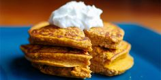 Skip the sugary pumpkin spiced lattes and go for these pumpkin protein pancakes. With this recipe, you can start your morning with 22 grams of protein.