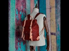 Mochilas de piel para hombre o mujer / vintage leather Backpack rucksack