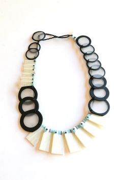Erica Rosenfeld glass slice necklace. Gallery Lulo.