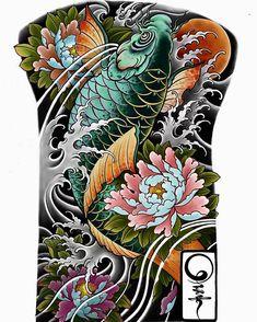 The most beautiful carp tattoos - Carp Tattoo - PinUp Girls Japanese Tattoo Art, Japanese Tattoo Designs, Best Tattoo Designs, Tattoo Sleeve Designs, Flower Tattoo Designs, Sleeve Tattoos, Tiki Tattoo, Pez Koi Tattoo, Carp Tattoo