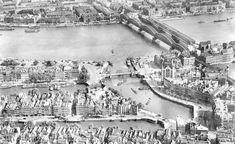 De Maasbruggen, luchtfoto 1939