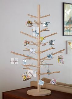 Holiday Trees Wood. Modern. Reusable. JOYFUL by ReTreeJoy on Etsy