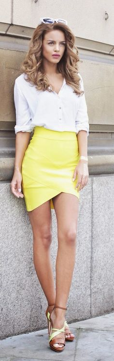 Spot Of Yellow Chic Style by Nada Adellè