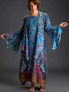 """""""Silk Shibori by Michael Smith.  Just gorgeous!"""" ...reminiscent of the technicolor dreamcoat."""