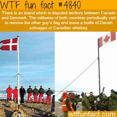 The dispute between Canada and Denmark over an Island - WTF fun facts
