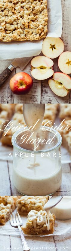 Spiced Cider Glazed Apple Bars ~ these buttery shortbread crumble bars are stuffed with juicy SweeTango apples and drizzled with an outrageous spiced cider glaze! #apples #dessert #shorbtread #applecrumblerecipe #appledessert #spicedcider #sweetango #easyappledessert #applecrisp #applepie #applepiebars #applebars #bestapplebars #fall #falldessert #SweeTangoSociety #ad