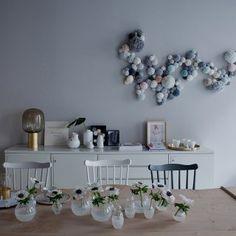 Mur de pompons - Marie Claire Idées