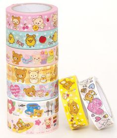 I am going to buy a planner and I am so getting these to decorate with Kawaii Diy, Kawaii Shop, Kawaii Cute, Japanese Stationery, Kawaii Stationery, Rilakkuma, Office Deco, Stationary Shop, Kawaii Accessories