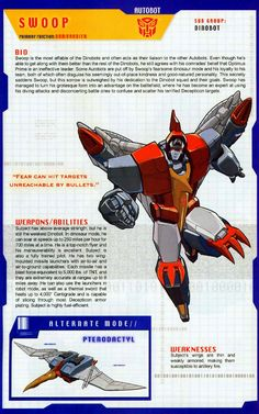 Transformer of the Day: Swoop