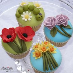 Beautifully decorated cupcakes from 'The Creative Cake Academy'