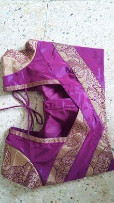 Silk Saree b Patch Work Blouse Designs, Simple Blouse Designs, Stylish Blouse Design, Blouse Back Neck Designs, Neckline Designs, Pattu Saree Blouse Designs, Blouse Designs Silk, Designer Blouse Patterns, Kurta Designs
