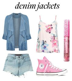 """""""Denim Jackets"""" by abbeyhopp on Polyvore featuring Evans, Dorothy Perkins, T By Alexander Wang, Converse, denimjackets and WardrobeStaples"""