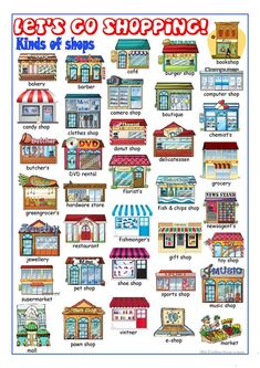 Image result for Beginners-- The names of shops and facilities in a city