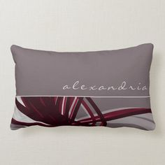 Gray & Wine Abstract Ribbons   Personalized Name Lumbar Pillow - tap/click to get yours right now! #LumbarPillow #personalized #name, #gray, #burgundy, #stylish, Shades Of Burgundy, Burgundy Wine, Personalized Pillows, Custom Pillows, Lumbar Pillow, Bed Pillows, Ribbon Design, Designer Pillow, Gray Background