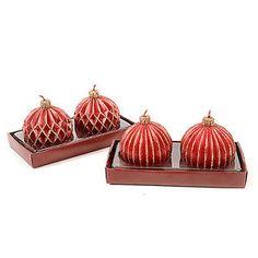 Candela a sfera rossa natalizia glitter oro decorazione addobbi natale 163868 | eBay