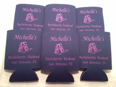 country Bachelorette party favors personalized Can Coolers Design T380 party favors lot of 12 to 25 Quick Shipping - Stock art  - by odysseycustomdesigns on Etsy https://www.etsy.com/listing/124558079/country-bachelorette-party-favors
