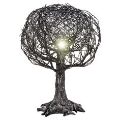 Cast an eerie glow on your Halloween scene with this Halloween Lighted Shadow Tree from Hyde and Eek! Boutique™. The dark, spooky tree mimics a dead, frightening tree you might find in a forest. Almost looking like barbed wire, it's just what you'll want to tell scary stories around on Halloween night.
