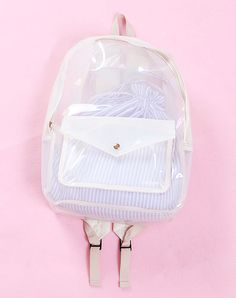 clear backpack.