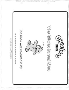 Free printable - Black and white Gingerbread Man story book