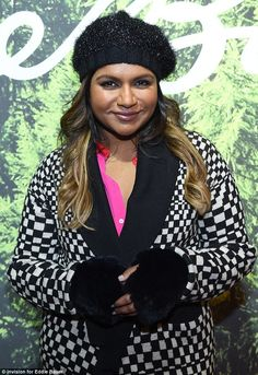 Mindy Kaling in Eugenia Kim Michelle beret and Carol gloves at Sundance Film Festival 2015