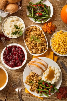 LOOK AT THE THANKSGIVING DINNER IN ALL OF ITS BEAUTIFUL GLORY! LOOK! AT! IT!
