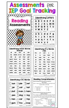 Assessments for IEP Goal Tracking. Math, Reading and Writing Assessments. Track your students progress with these easy to use assessments! Perfect for any special education teacher! Teaching Special Education, Education Jobs, Special Education Progress Monitoring, Special Education Organization, Education Today, Free Education, Teacher Education, Education Quotes, Higher Education