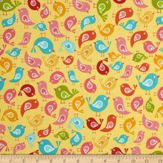 Riley Blake Hello Sunshine Birds Yellow - for on emmas?