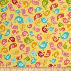 Riley Blake Hello Sunshine Birds Yellow