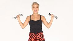 Tracy Anderson shows you five lightning-fast moves that will get your heart pumping and muscles burning—and tighten up your biceps and triceps. Grab a Tracy Anderson Workout, Tracy Anderson Arms, Tracy Anderson Method, Toned Arms, How To Lean Out, Heart Pump, Celebrity Workout, Celebrity Fitness, Sports