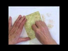 Learn to make this lovely vintage background paper that looks like old wallpaper, artfully torn and dirty. I call it 'distressed wallpaper. Card Making Tips, Card Making Tutorials, Card Making Techniques, Old Wallpaper, Art Journal Techniques, Quilling Cards, Paper Background, Flower Cards, Craft Videos